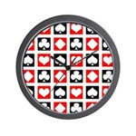 Deck of Cards Wall Clock