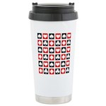 Deck of Cards Stainless Steel Travel Mug