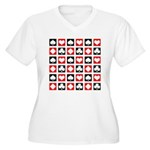 Deck of Cards Women's Plus Size V-Neck T-Shirt