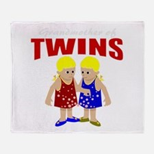 Grandmother of twins Throw Blanket