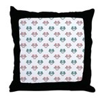Cute Pastel Owls Throw Pillow