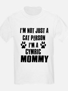 Cymric Cat Design T-Shirt