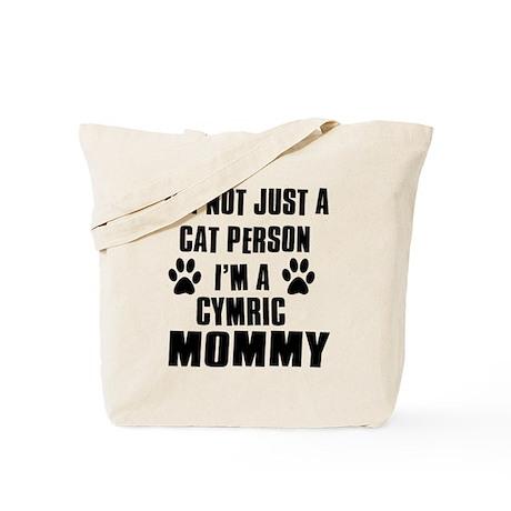 Cymric Cat Design Tote Bag