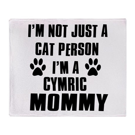 Cymric Cat Design Throw Blanket