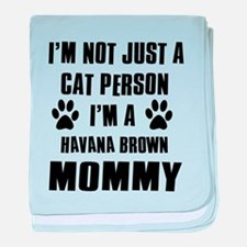 Havana Brown Cat Design baby blanket