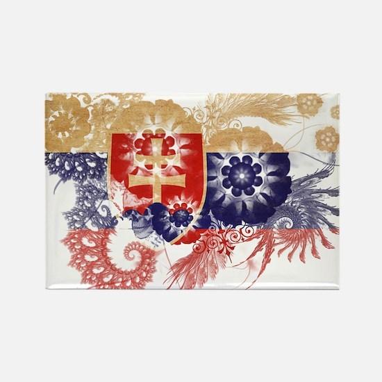 Slovakia Flag Rectangle Magnet