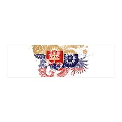 Slovakia Flag 42x14 Wall Peel