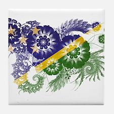 Solomon Islands Flag Tile Coaster