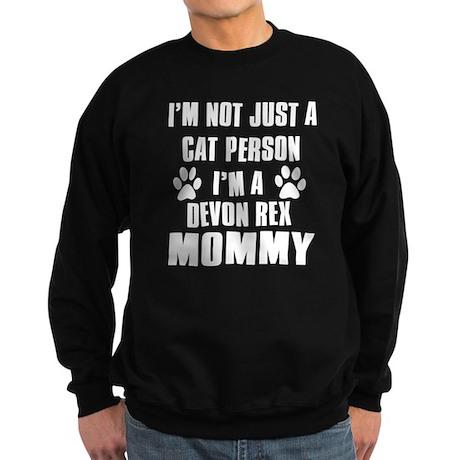 Devon Rex Cat Design Sweatshirt (dark)