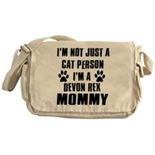 Devon Rex Cat Design Messenger Bag