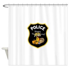 Police Thanksgiving Shower Curtain