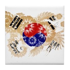 South Korea Flag Tile Coaster