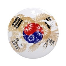 South Korea Flag Ornament (Round)