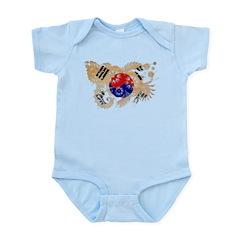 South Korea Flag Infant Bodysuit