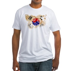 South Korea Flag Fitted T-Shirt