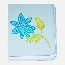Blue Flower baby blanket