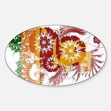 Sri Lanka Flag Sticker (Oval)