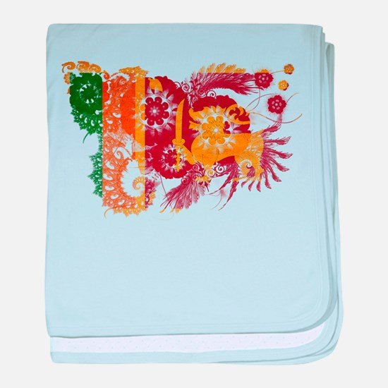 Sri Lanka Flag baby blanket