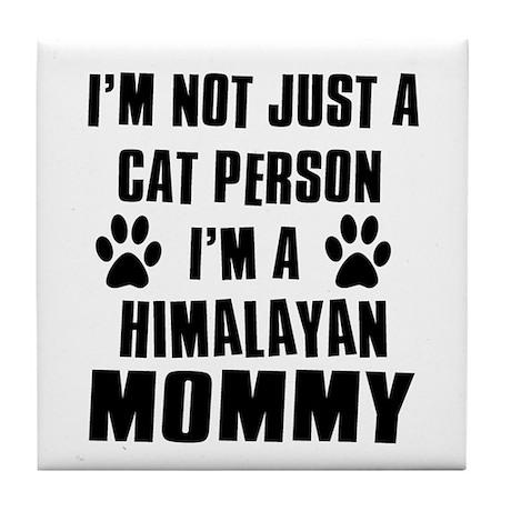 Himalayan Cat design Tile Coaster