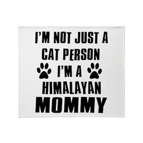 Himalayan Cat design Throw Blanket