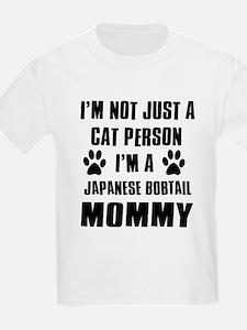 Japanese Bobtail Cat Design T-Shirt