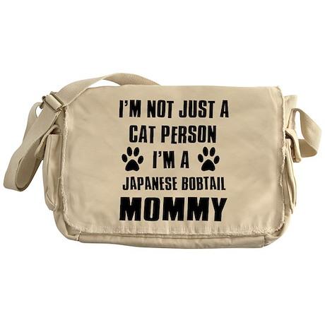 Japanese Bobtail Cat Design Messenger Bag