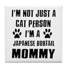 Japanese Bobtail Cat Design Tile Coaster