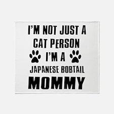 Japanese Bobtail Cat Design Throw Blanket