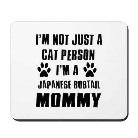 Japanese Bobtail Cat Design Mousepad