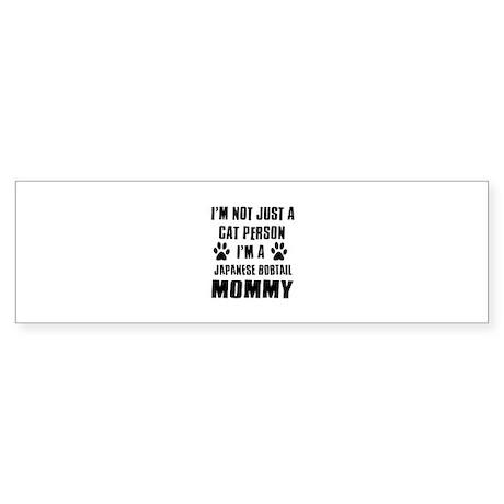 Japanese Bobtail Cat Design Sticker (Bumper)