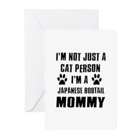 Japanese Bobtail Cat Design Greeting Cards (Pk of