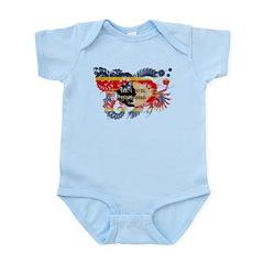 Swaziland Flag Infant Bodysuit