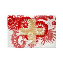 Switzerland Flag Rectangle Magnet (100 pack)
