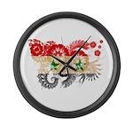 Syria Flag Large Wall Clock