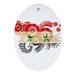 Syria Flag Ornament (Oval)