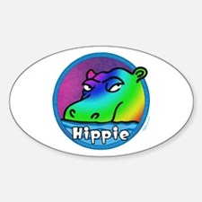 Hippie (Hippo) Oval Decal