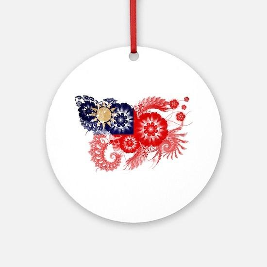 Taiwan Flag Ornament (Round)