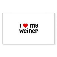 I * My Weiner Rectangle Decal