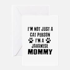 Javanese Cat Design Greeting Card