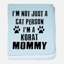 Korat Cat Design baby blanket
