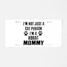 Korat Cat Design Aluminum License Plate