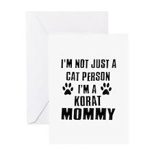 Korat Cat Design Greeting Card