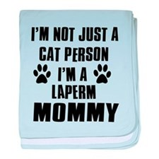 Laperm Cat Design baby blanket