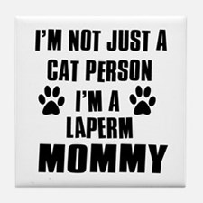 Laperm Cat Design Tile Coaster