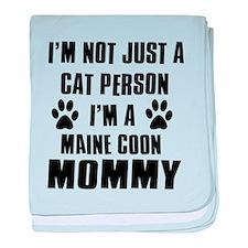 Maine Coon Cat Design baby blanket