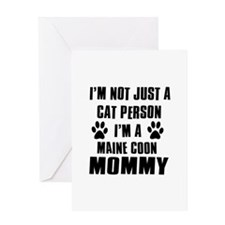 Maine Coon Cat Design Greeting Card