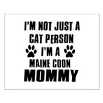 Maine Coon Cat Design Small Poster