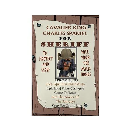 Sheriff -RecMag -Cavalier,BlackTan Magnets