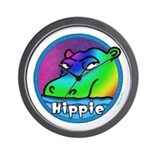 Hippie (Hippo) Wall Clock