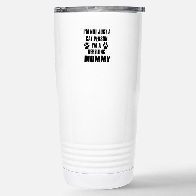 Nebelung Cat Design Travel Mug